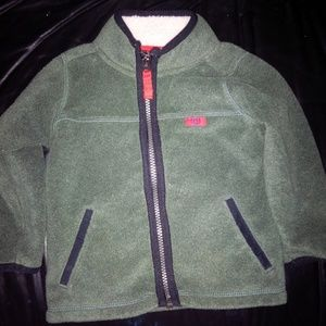 Boys green fleece zip jacket size 18 months
